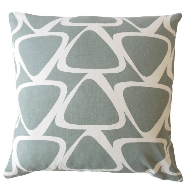 Ann Modern Geometric Down Filled 100% Cotton Lumbar Pillow by Corrigan Studio